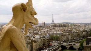Paris, Notre Dame gargoyle